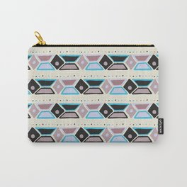 Abstract modern hand painted geometrical watercolor pattern Carry-All Pouch