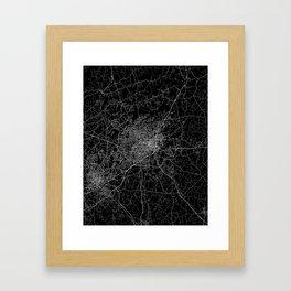 Greensboro map Framed Art Print