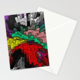 MULTICOLOR 3D EXPLOSION ABSTRACT GAMING DIGITAL ART - OUTBURST Stationery Cards