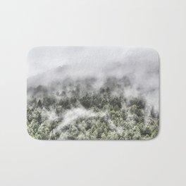 """""""Mountain light III"""". Foggy forest. Bath Mat"""