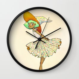 Daltonica - The Color Blind Witch Wall Clock