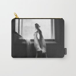 digital photo photography legs window figure woman black and white Carry-All Pouch