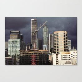 Storms-a-brewin' in Los Angeles Canvas Print