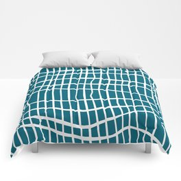 Net White on Blue Comforters