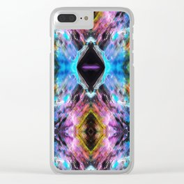 Brain Waves 1 Clear iPhone Case