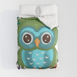CUTE PLAYFUL OWL Comforters