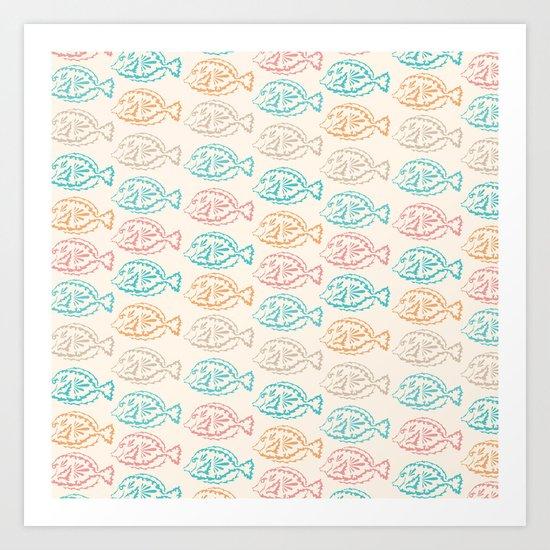 Pastel Marine Pattern 03 Art Print