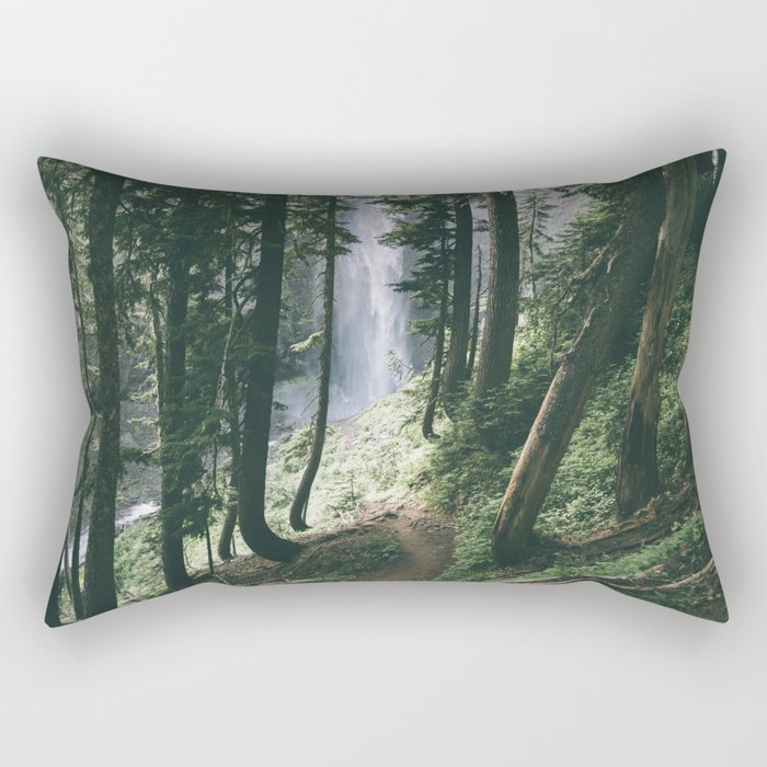 To The Falls Rectangular Pillow