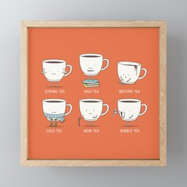 Types of tea Framed Mini Art Print