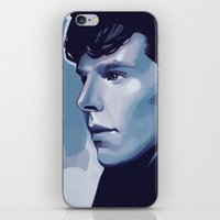 sherlock iPhone & iPod Skins featuring Sherlock by Angela Taratuta