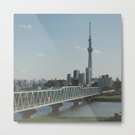 Tokyo Sky tree and Bridge Metal Print