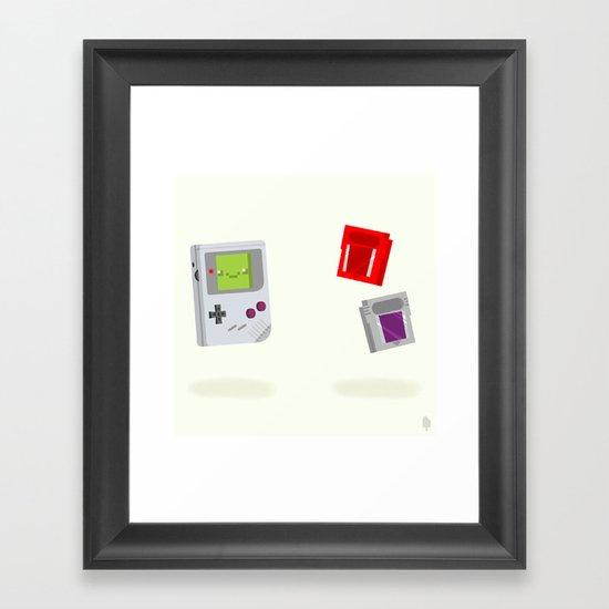 Gameboy & Games Framed Art Print