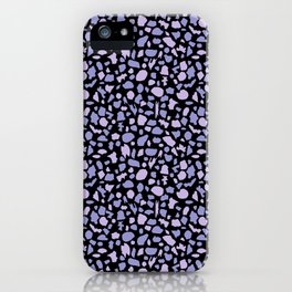 Terrazzo in Lilacs and Black iPhone Case