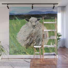 Big fat wooly sheep Wall Mural