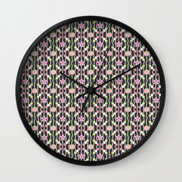 Hanami Nummies | Black Wall Clock