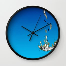 The Skydiving Mummy Wall Clock