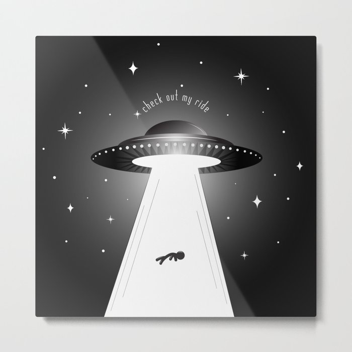 Check Out My Ride Metal Print