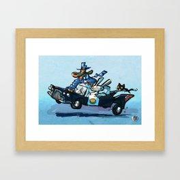 Use Verb on Noun #28: Sam & Max Hit The Road Framed Art Print