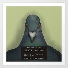 Pigeon Doesn't Care Art Print
