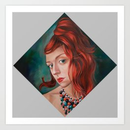 Red-Haired Art Print