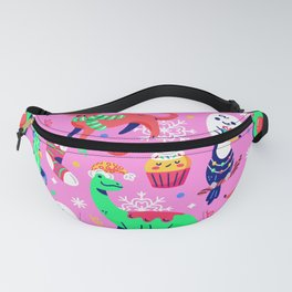 Crazy Christmas Pattern Fanny Pack