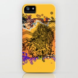 Poodle pop art iPhone Case