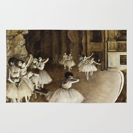 Edgar Degas - Ballet Rehearsal On Stage Rug