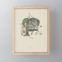 Celtic Initial F Framed Mini Art Print
