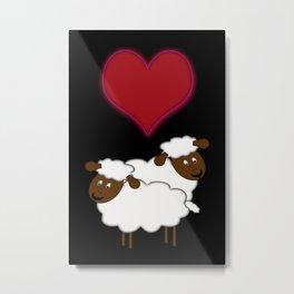 Sheeps in Love Metal Print