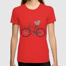 Squirrel Riding Bike T-shirt