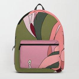 Cabarete Flamingo Illustration Woman Hair Backpack