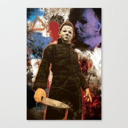 """Michael Myers Halloween """"The Curse of Thorne"""" Canvas Print"""