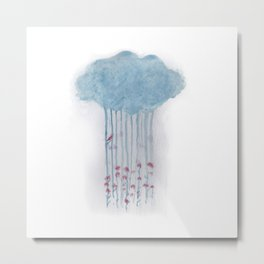 Rain in the woods Metal Print