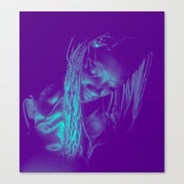 Subdued, teal Canvas Print