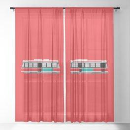 Toronto TTC Streetcar Sheer Curtain