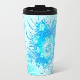 Abstract Christmas Ice Garden Travel Mug