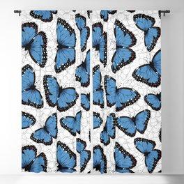 Blue morpho butterflies Blackout Curtain