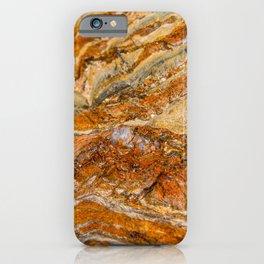 Orange Rock Texture iPhone Case