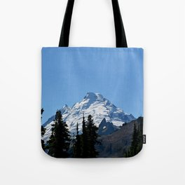 Snow Cap on the Mountain Tote Bag