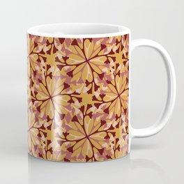 Fall Leaves Seamless Vector Pattern, Hand Drawn Autumn Leaf Seeds Coffee Mug