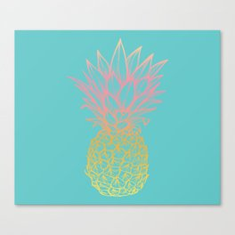Coming up Pineapple Canvas Print