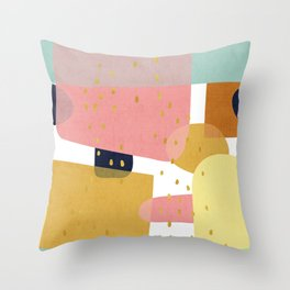 Conglomeration in Pastel Throw Pillow