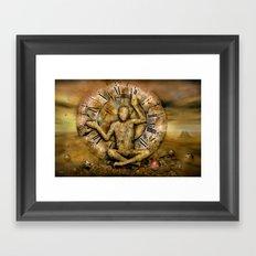 Meditation time Framed Art Print