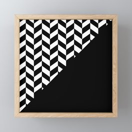 BROKEN ABSTRACT GEOMETRY (BLACK-WHITE) Framed Mini Art Print