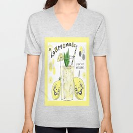 You're Welcome, Love, The Lemons Unisex V-Neck