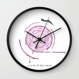 A Red Onion Wall Clock