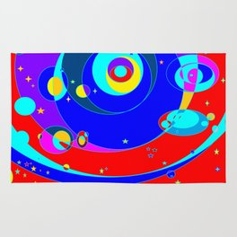 A Galaxy Full of Color and Heavenly Bodies Rug