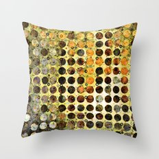 MELANGE OF YELLOW OCKER and BROWN Throw Pillow