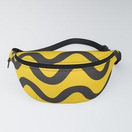 Yellow Ripple Fanny Pack