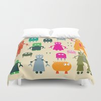 robots Duvet Covers featuring Robots by ALLTYPE